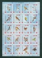 Denmark. Christmas Sheet 1996. Danish Church Calgary Canada. Owl,Birds - Full Sheets & Multiples