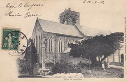 50. QUETTEHOU. CPA . L'EGLISE. ANNEE 1902 - France