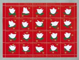 Denmark. Christmas Sheet 2004. Danish Church Calgary. Birds,Stars. - Full Sheets & Multiples