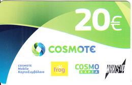GREECE - Cosmote Prepaid Card 20 Euro, Exp.date 22/11/19, Used - Greece
