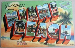 CPA Floride Florida Miami Beach 1948 Avion CESSNA DC 150 Vintage - Miami Beach