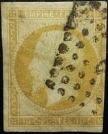 FRANCE Y&T N°13A Napoléon 10c Bistre. Oblitéré Losange - 1853-1860 Napoléon III