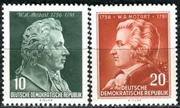 A12-50-9) DDR - Mi 510 / 511 - * Ungebraucht Mit Falzreste - 10-20Pf   Wolfgang Amadeus Mozart - [6] République Démocratique