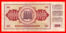 BILLETE YUGOSLAVIA. 100 DINARES. 1981. - Yugoslavia