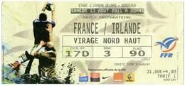 Billet D'entrée Match De Préparation FRANCE- IRLANDE Du 13/08/2011 Au Stade Chaban-Delmas à Bordeaux - Tickets D'entrée