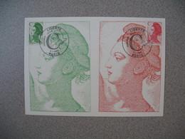 Carte-Maximum 1990   N°  2615 Et 2616 - Maximum Cards