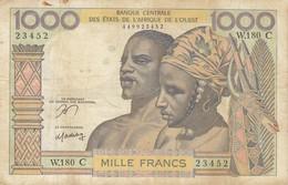 Billet 1000 F Banque Centrale Des Etats De L'Afrique De L' Ouest Burkina Faso P.302Cn Ou K.246C - États D'Afrique De L'Ouest