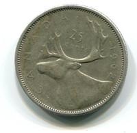 1952 Canada Silver 25 Cent Coin - Canada