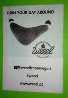Servilleta Weeel. Yogurt De Portugal - Serviettes Publicitaires