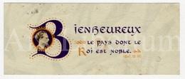 Small Card / ROYALTY / Belgique / België / Roi Leopold III / Koning Leopold III / Bienheureux / Le Roi Est Noble - Familles Royales