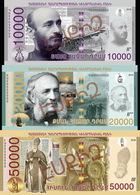 REPUBLIC OF ARMENIA 10000 20000 50000 DRAM BANKNOTES SET 2018 YEAR - Arménie