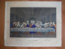 Lithographie Wentzel Wissembourg - Sainte Cène - Heilige Habendmahl - Santa Cena - Lithographies