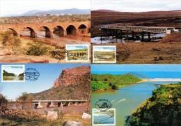 Transkei - 1985 Bridges Maxi Card Set # SG 168-171 , Mi 168-171 - Transkei