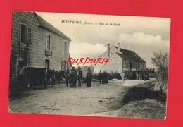 [39] Jura MONTROND Rue De La Poste + Cachet Militaire - Francia