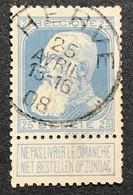 N. 76, 25 Cent Bleu, Obl. Herve 25/4/1908, NIPA 60 - 1905 Grosse Barbe
