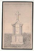 Décès Sur Carton Henri-Joseph MAGIS Veuf Anne-Thérèse Nicolat Heusy 1887 Lith. L.M. Leonard Verviers - Images Religieuses