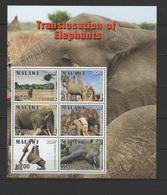 Malawi 2018 Translocation Of Elephants Sheetlet MNH - Malawi (1964-...)
