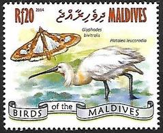 Maldives 2014 - MNH - Eurasian Spoonbill (Platalea Leucorodia - Vögel
