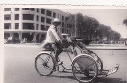 CPSM - PHOTO Carte Photo  ASIE Vélo Tricycle Transport Pousse-pousse Bicyclette Cycliste Cyclisme Cycling Radsport - Non Classés