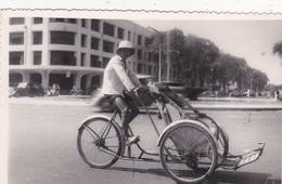 CPSM - PHOTO Carte Photo  ASIE Vélo Tricycle Transport Pousse-pousse Bicyclette Cycliste Cyclisme Cycling Radsport - Cartes Postales