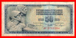BILLETE YUGOSLAVIA. 50 DINARES. 1968. - Yugoslavia