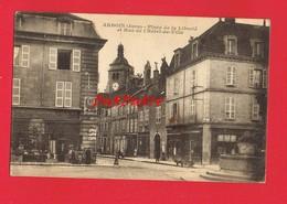 [39] Jura  ARBOIS Place De La Liberté Et Rue De L'Hôtel De Ville Pp Attelage Chien - Arbois
