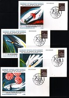 Germany / Deutschland 1969 Space / Raumfahrt 4 Interesting Postcards - Briefe U. Dokumente