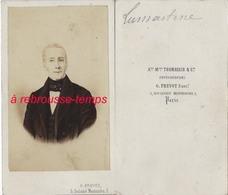 CDV Alphonse De Lamartine Poete Romancier Photo G. Prévot Ex Thomassin Boulevart Montmartre à Paris - Photographs