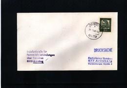 Germany / Deutschland 1968 Space / Raumfahrt Raisting Earth Station Interesting Cover - Briefe U. Dokumente