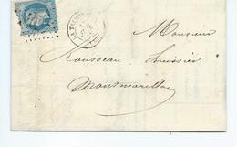 Lettre De La Trimouille Vienne Pour Montmorillon  Timbre 29A  1869 - 1849-1876: Classic Period