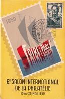 26/5/1950 - FOIRE DE PARIS - 6ème Salon International De La Philatélie - Yvert & Tellier N° 662 & 695 - Expositions Philatéliques