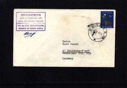 South Africa 1969 Space / Raumfahrt  Johannesburg Satellite Earth Station Interesting Cover - Briefe U. Dokumente