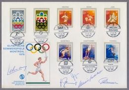 Canada 1976 Big Cover Olympic Games Montreal Schweizer Sporthilfe Autographs Lehmann Ramseier Stückelberger Giger Poffet - Estate 1976: Montreal