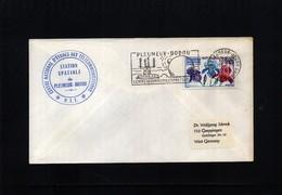 France 1969 Space / Raumfahrt  Pleumeur-Bodou Satellite Earth Station Interesting Cover - Briefe U. Dokumente