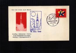 Germany / Deutschland 1969 Space / Raumfahrt Man On The Moon Interesting Cover - Briefe U. Dokumente