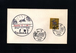 Germany / Deutschland 1970 Space / Raumfahrt Apollo 13 Interesting Cover - Briefe U. Dokumente