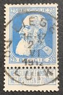 N. 76, 25 Cent Bleu, Obl. Liege 22/6/1912 - 1905 Grosse Barbe