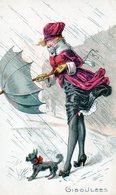Fantaisie, Femme , Parapluie, Giboulée, Illustrateur - Femmes