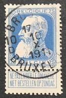 N. 76, 25 Cent Bleu, Obl. Bruxelles 10/10/1911 - 1905 Grosse Barbe