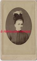 CDV Femme Au Chapeau Extravagant-mode-photo H. Anfray à Paris - Anciennes (Av. 1900)