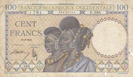 Billet 100 F Banque De L' Afrique Occidentale Alph. F.386 P.23 Ou K.170 - États D'Afrique De L'Ouest