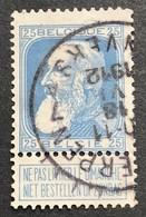 N. 76, 25 Cent Bleu, Obl. Anvers 18/6/1912 - 1905 Grosse Barbe