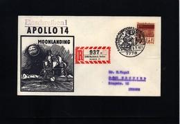 Germany / Deutschland 1971 Space / Raumfahrt Apollo 14 Moonlanding Interesting Cover - Briefe U. Dokumente