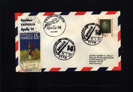 Germany / Deutschland + Gabon 1971 Space / Raumfahrt Apollo 14 Interesting Cover - Briefe U. Dokumente