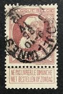 N. 77, 35 Cent Brun-rouge, Obl. Erquelinnes 25/4/1912, NIPA 100 - 1905 Grosse Barbe