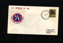 Australia 1971 Space / Raumfahrt Apollo 14 Carnarvon Tracking Station Interesting Cover - Ozeanien