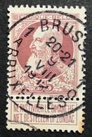 N. 77, 35 Cent Brun-rouge, Obl. Bruxelles 9/8/1912 - 1905 Grosse Barbe