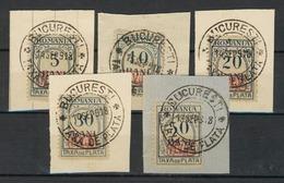 Militärverwaltung Rumänien P 1-5 Satz Auf Briefstück - Occupation 1914-18