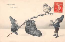 Illustrateur Non Signé - Lutin - Poussin - Chaussure - Joyeuses Pâques - Pâques