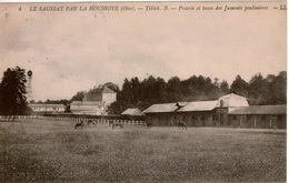 Cpa 60 LE SAUSSAY Par LA HOUSSOYE  Tel 3  Prairie Et Boxes Des Juments Poulinières , Peu Courante - France
